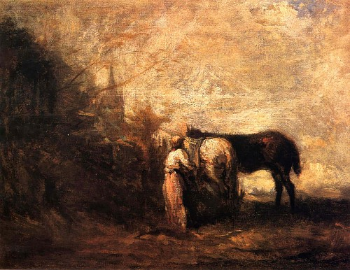Exhibition: Gallery Highlights, Work: Jean Baptiste Camille Corot Les Chevaux de Wouvermans