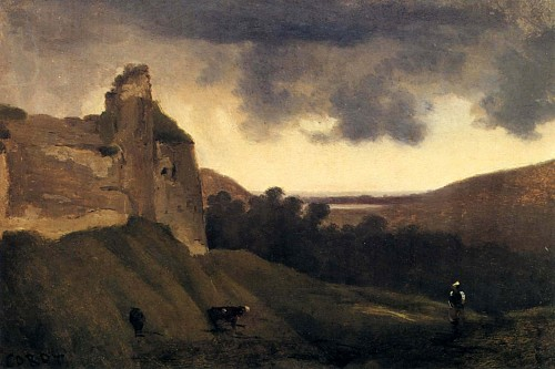 Jean Baptiste Camille Corot<br/> <i>Argues-Ruines du Chateau</i>