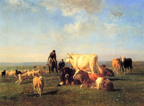 Exhibition: Constant Troyon, Work: Cows and Sheep Grazing