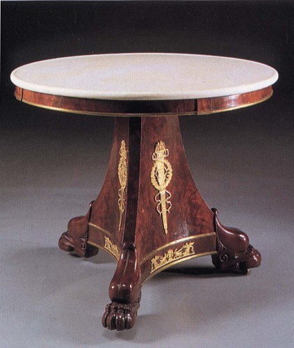Exhibition: Furniture & Carpets: 19th-Century France & Austria, Work: 19th Century FRENCH Late Empire Ormolu-Mounted Mahogany Center Table